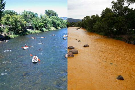 Negative impacts of mining on river systems.