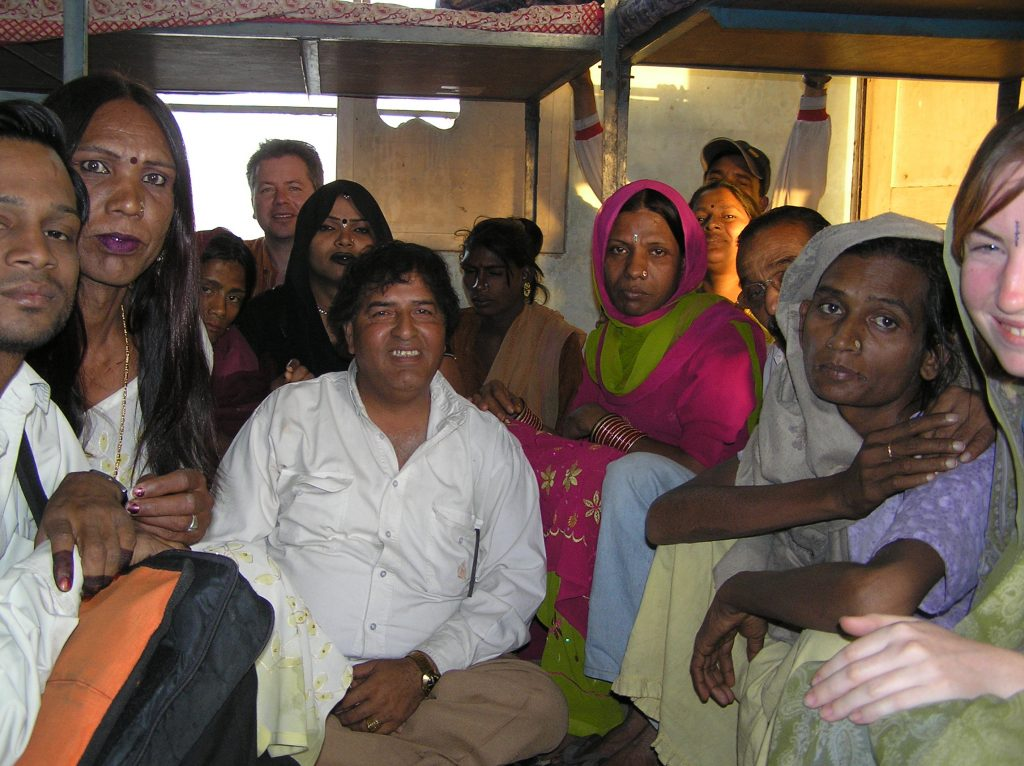 Some of the Hijra and out reach workers based in the Sahara safe house in East Delhi 2006.