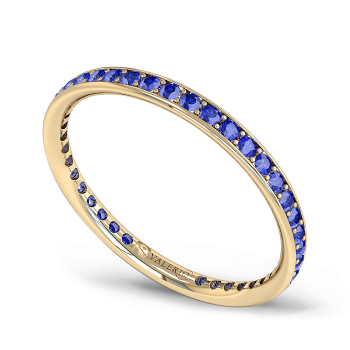 Blue Sapphire and Fairtrade Gold Eternity Ring
