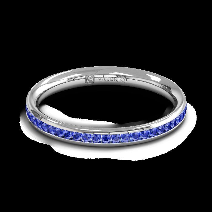 Blue Sapphire half Fairtrade Gold Eternity Ring