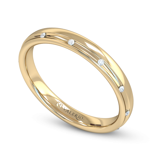 Channel Set Diamond Fairtrade Yellow Gold Wedding Ring