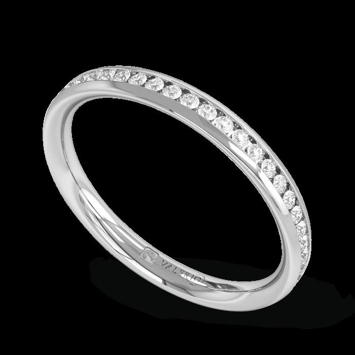 Diamond Fairtrade half Fairtrade Gold Eternity Ring