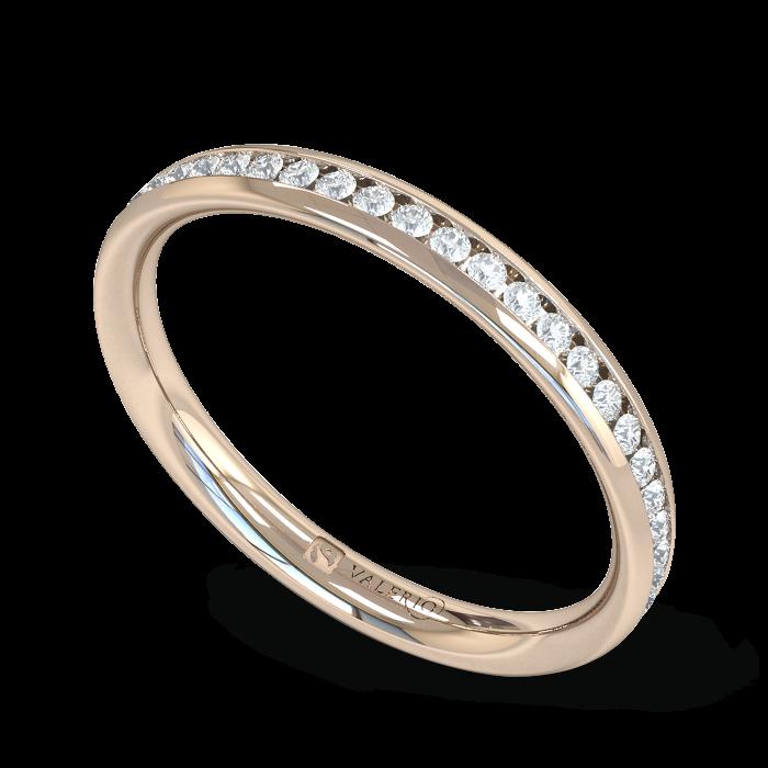 Diamond Fairtrade half Fairtrade Rose Gold Eternity Ring