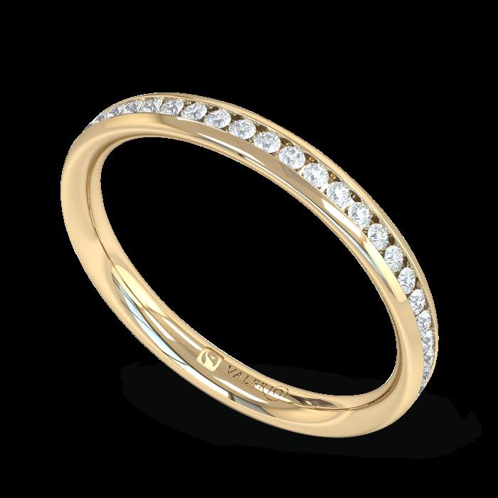 Diamond Fairtrade half Fairtrade Yellow Gold Eternity Ring