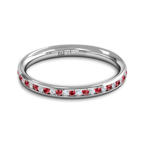 Diamond Ruby Fairtrade half Fairtrade Gold Eternity Ring