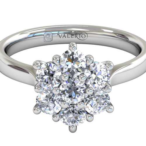 Diamond Starlight Cluster Engagement Ring
