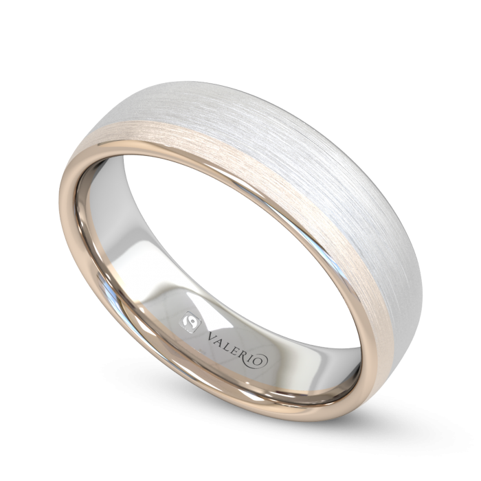 Diamond White and Rose Fairtrade Gold Wedding Ring