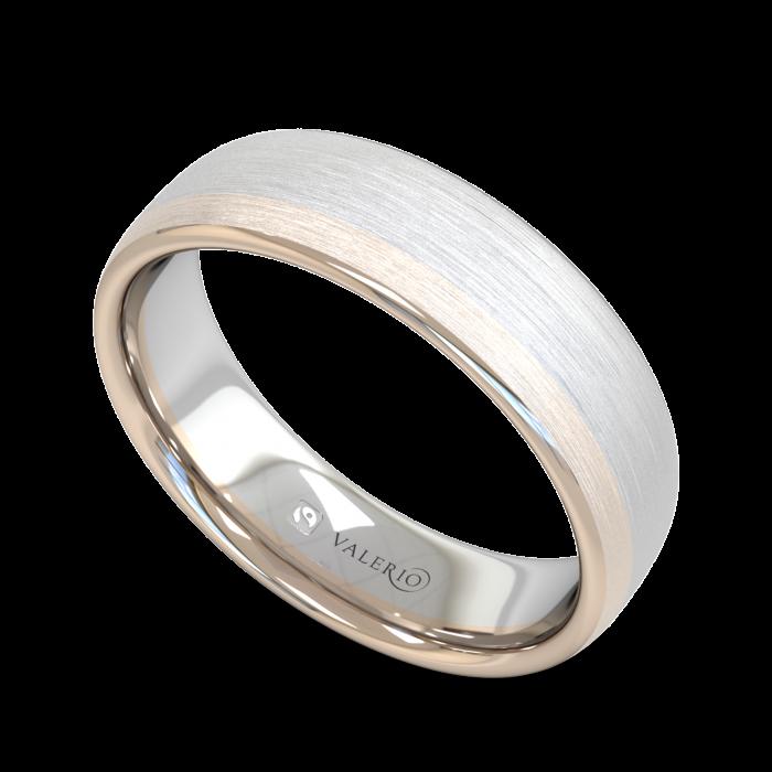 Diamond White and Rose Fairtrade Gold Wedding Ring