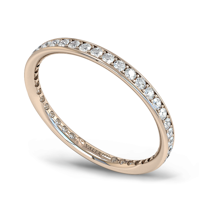 Diamond and Fairtrade Rose Gold Eternity Ring