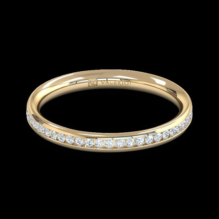 Diamond Fairtrade Gold half Eternity Ring