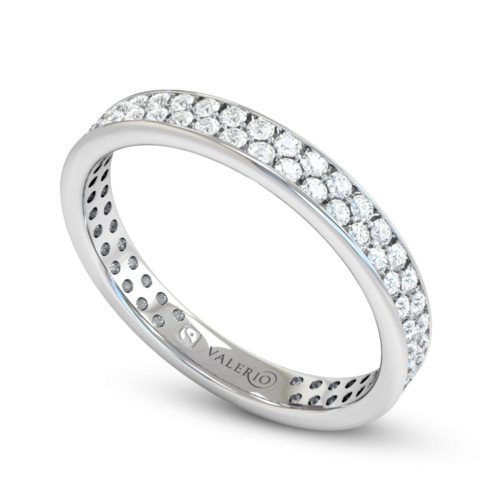 Grain set Diamond Fairtrade White Gold Eternity Ring