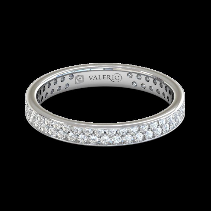 Grain set Diamond Fairtrade White Gold Eternity Ring top