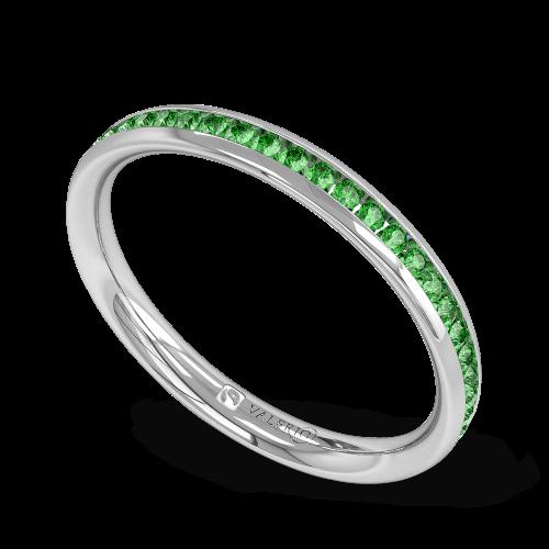 Emerald Fairtrade half Fairtrade Gold Eternity Ring