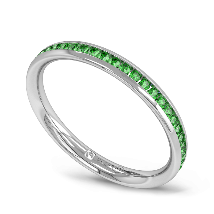 Emerald Fairtrade half Fairtrade Gold Eternity Ring