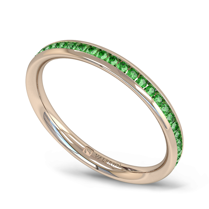 Emerald Fairtrade half Fairtrade Rose Gold Eternity Ring