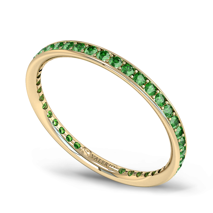Emerald and Fairtrade Gold Eternity Ring