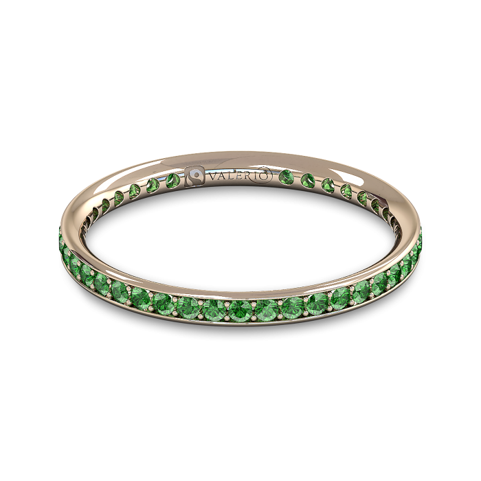 Emerald and Fairtrade Rose Gold Eternity Ring