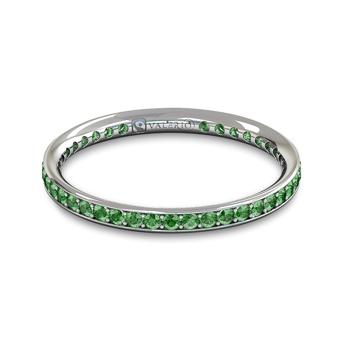 Emerald and Fairtrade White Gold Eternity Ring