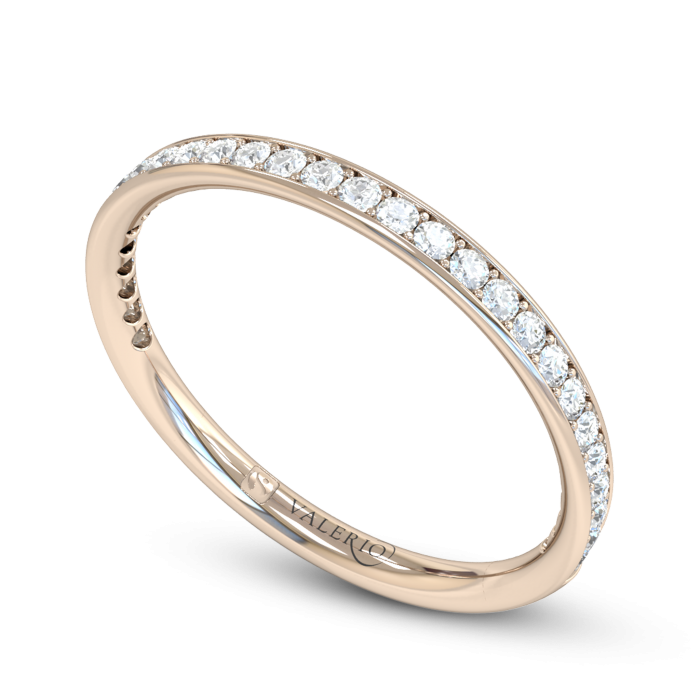 Grain Set Diamond Fairtrade Rose Gold Eternity Ring