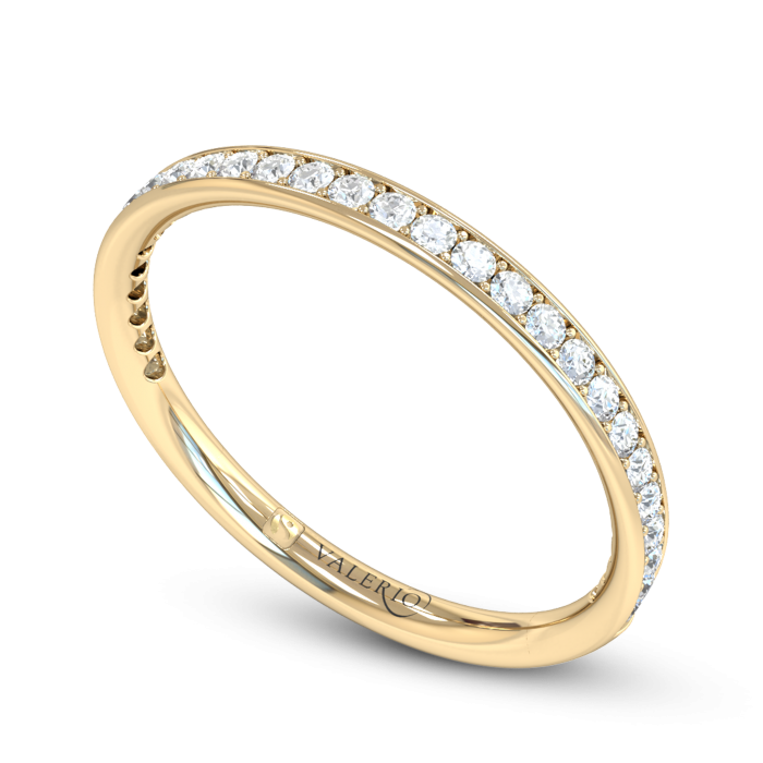 Grain Set Diamond Fairtrade Yellow Gold Eternity Ring