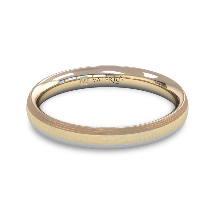 Rainbow Fairtrade Gold Wedding Ring top
