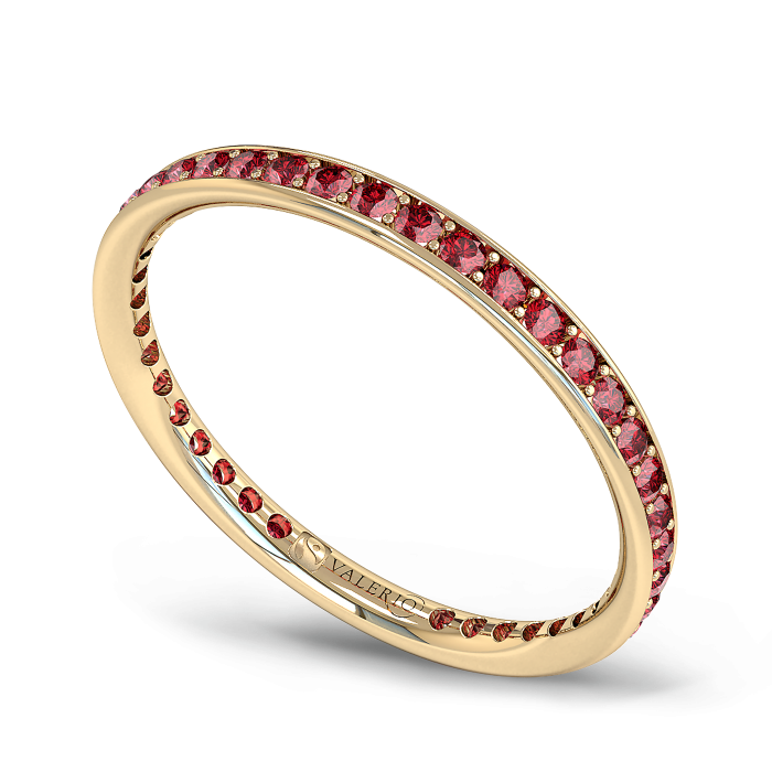 Ruby and Fairtrade Gold Eternity Ring