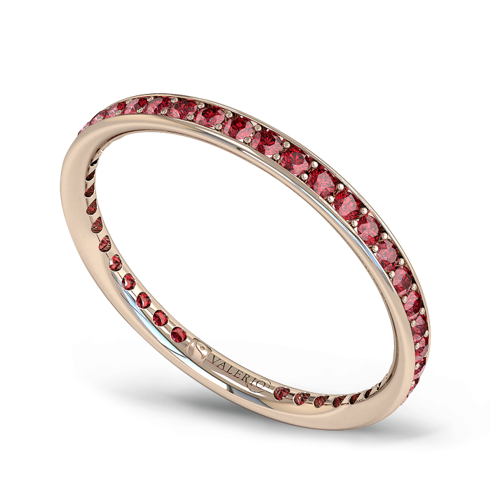 Ruby and Fairtrade Rose Gold Eternity Ring