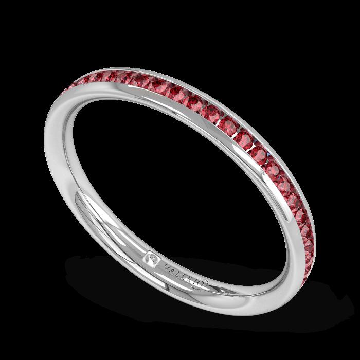 Ruby half Fairtrade Gold Eternity Ring