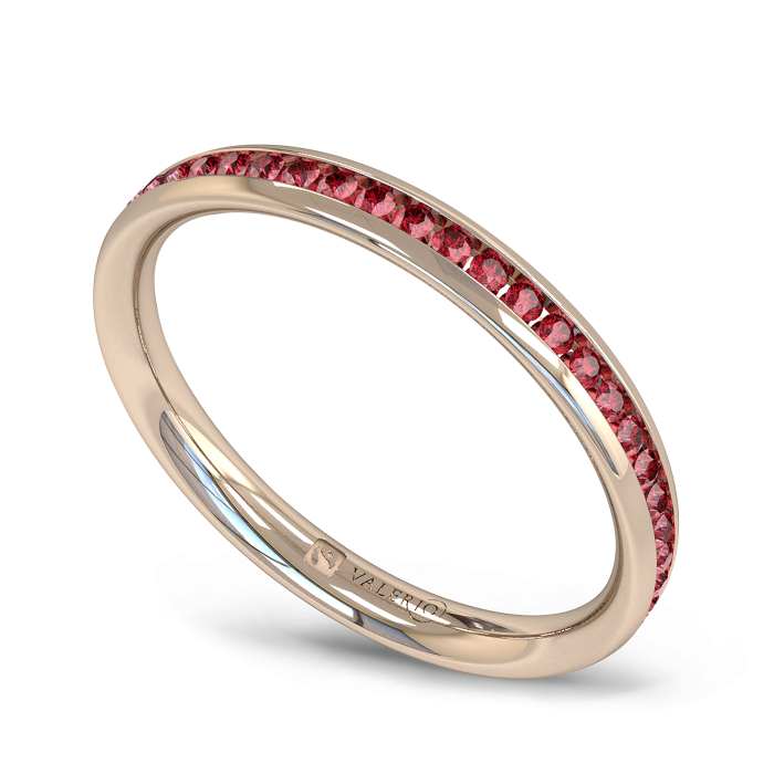 Ruby half Fairtrade Rose Gold Eternity Ring