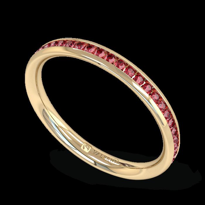 Ruby half Fairtrade Yellow Gold Eternity Ring