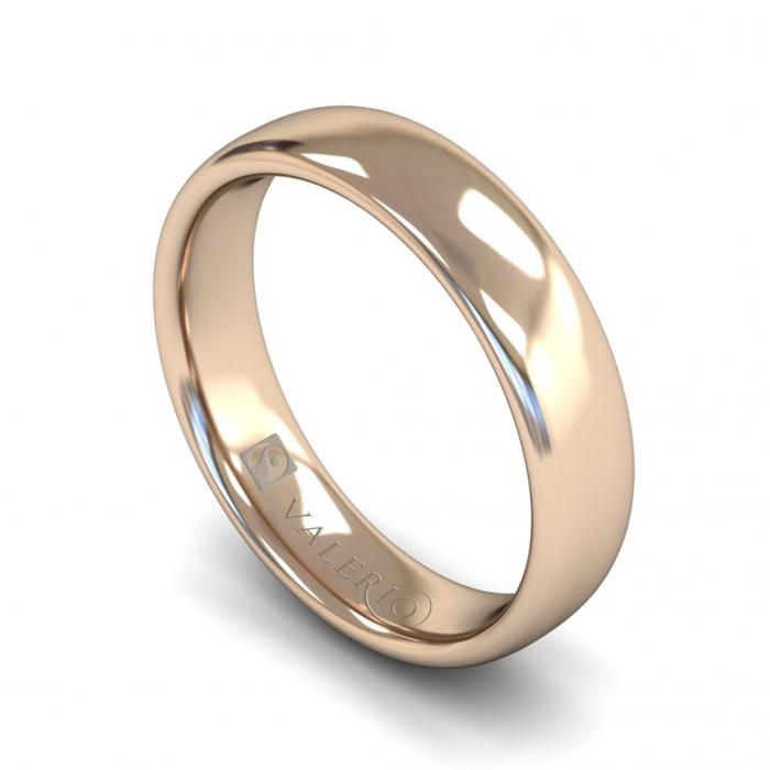 Slight Court ( Comfort Fit ) FairTrade 18k Rose Gold Wedding Ring