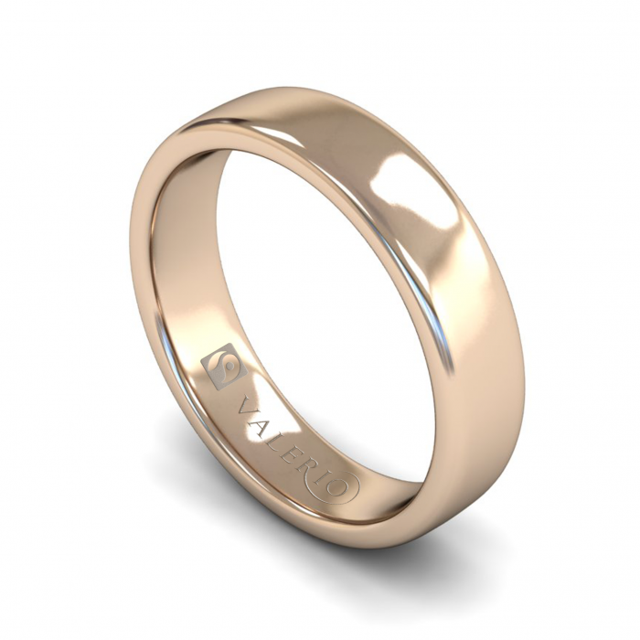 Slight Court ( Comfort Fit ) FairTrade 18k Rose Gold Wedding Ring With Flat Edge