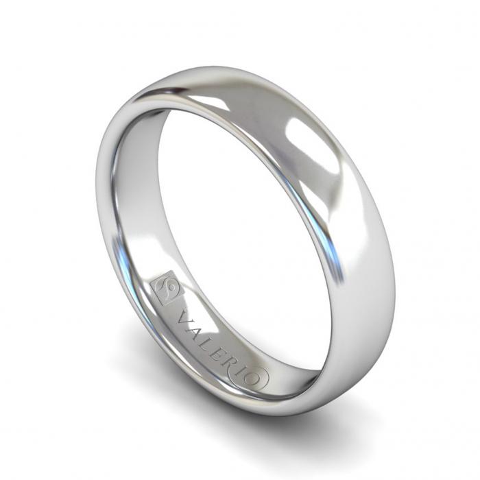 Slight Court ( Comfort Fit ) FairTrade 18k White Gold Wedding Ring