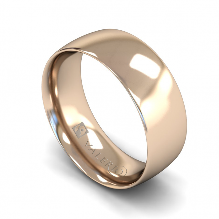 Traditional Court (Comfort Fit) 18k FairTrade Rose Gold Wedding Ring