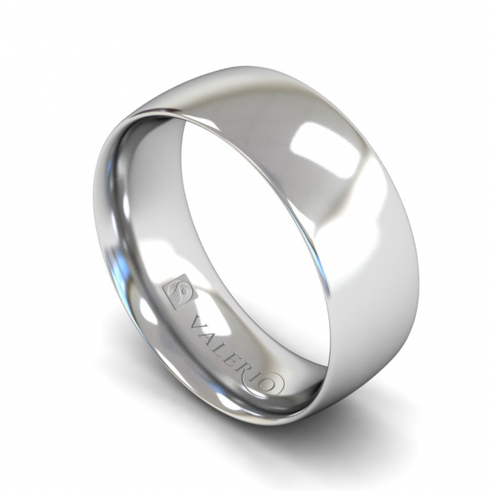 Traditional Court (Comfort Fit) 18k FairTrade White Gold Wedding Ring