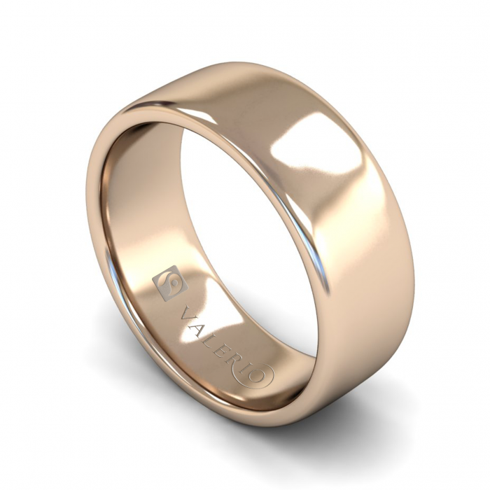 Slight Court FairTrade Gold Wedding Ring with Flat Edge