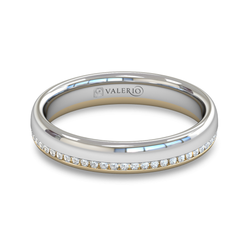 Diamond White and Yellow Fairtrade Gold Wedding Ring