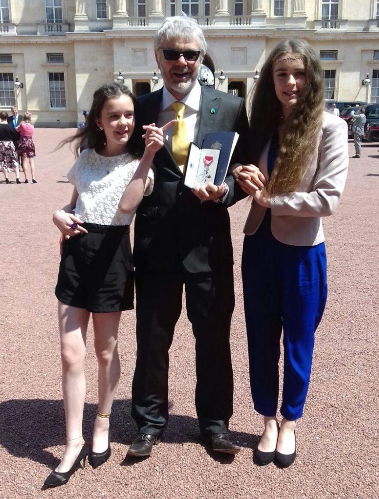 MBE Ceremony outside Buckingham Palace 2016