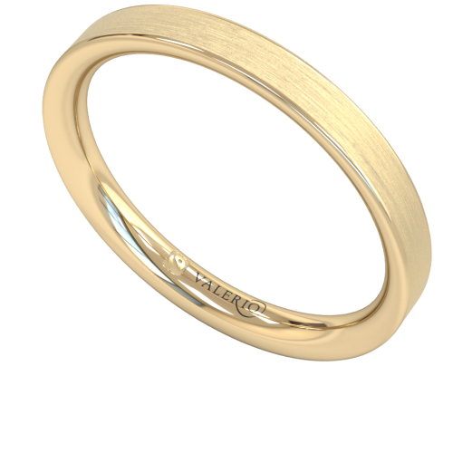 Flat Court FairTrade Gold Wedding Ring