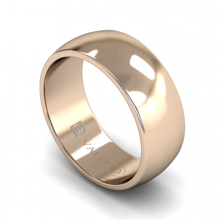 D-Shaped FairTrade Gold Wedding Ring